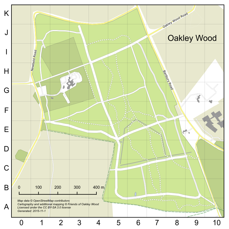Map of Oakley Wood